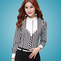 Blouse shirt blusas femininas Striped Blouses plus size S-6XL camisa feminina tassel blouse Long Sleeve women chiffon blouse