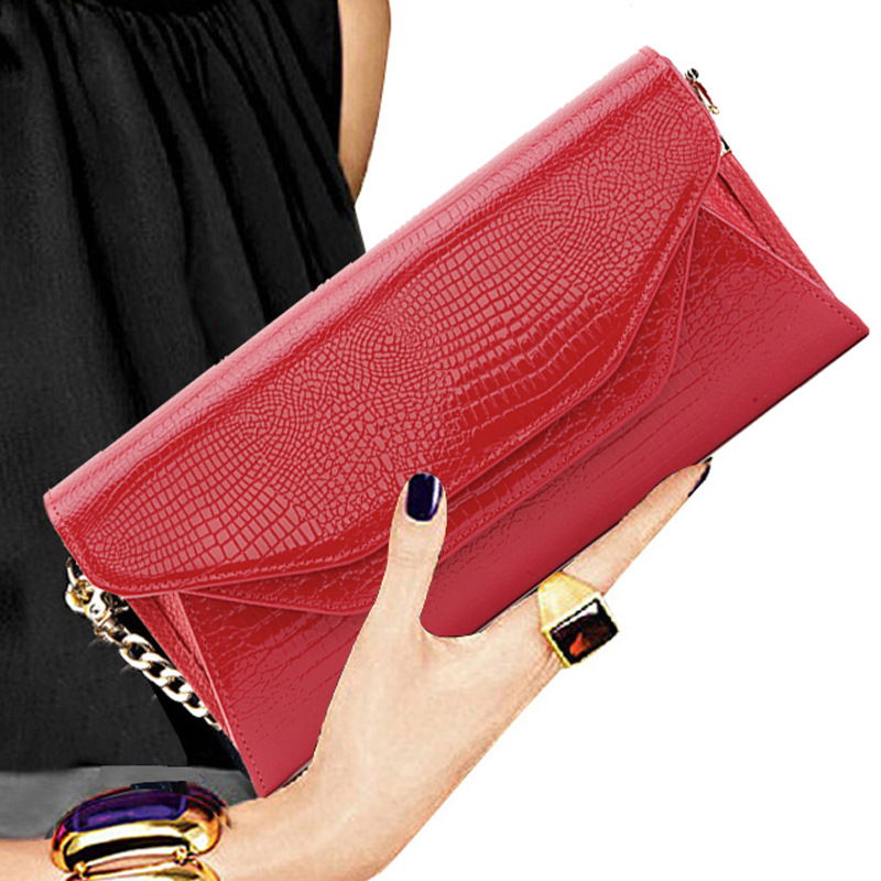 Genuine Leather Vintage High Quality Handbag Chain Double Layer Banquet Clutch Bag Shoulder Crossbody Messenger Women Wallet New 2017 women bag cowhide genuine leather fashion folding handbag chain shoulder bag crossbody bag handbag party clutch long wallet