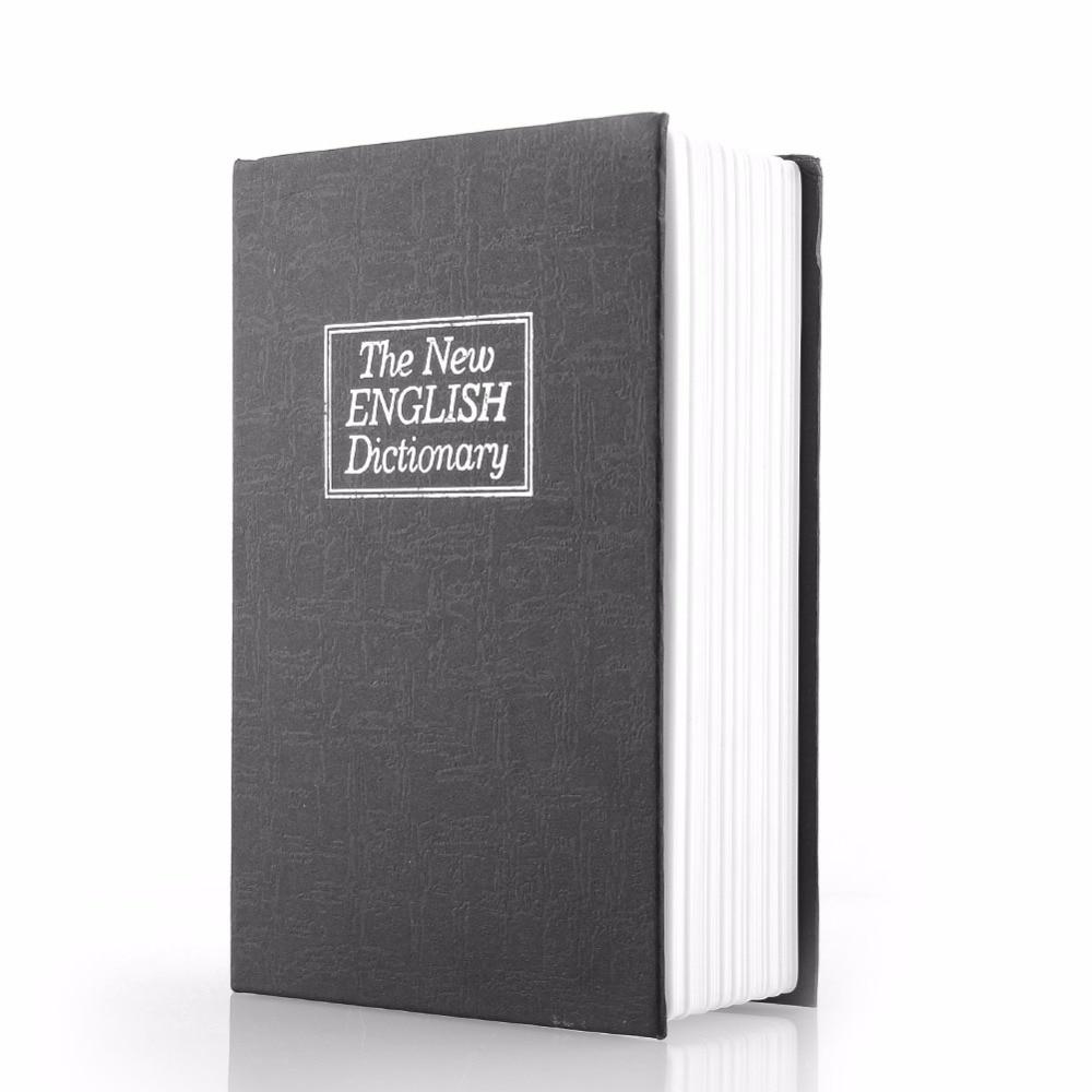 High Quality Black Dictionary Hidden Secret Book Design Valuables Secretive Money Cash Box Security Code Key With Lock Gift