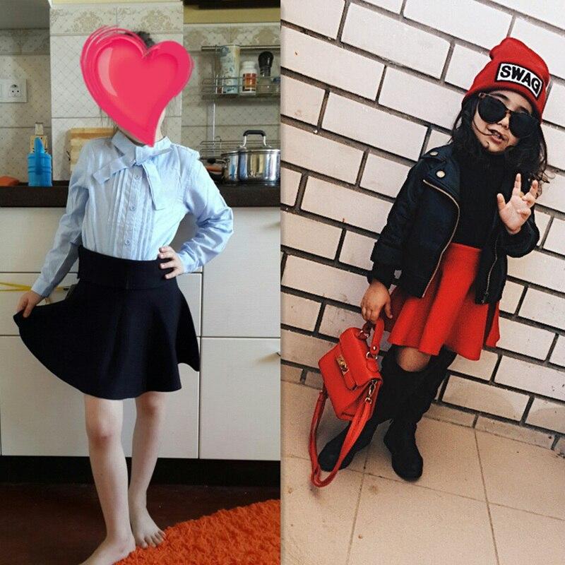 2547c34bf Faldas para Niñas otoño y invierno sólido hecho punto niños falda casual  Bow Tutu bebé Faldas ropas niños estilo coreano en Faldas de Mamá y bebé en  ...