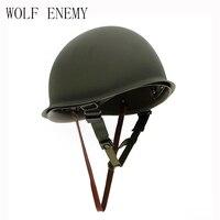 Neue Heiße Verkauf Hohe Qualität Universal Tragbare Military Stahl M1 Helm Taktische Schutz Armee Ausrüstung Feld Grün Helm