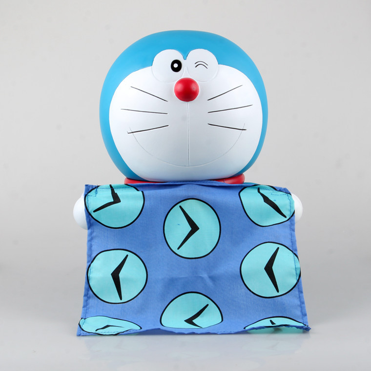 Anime Doraemon with Time Handkerchief Save Money Bank Piggy Bank PVC Action Figure Toy 30cm KT1707