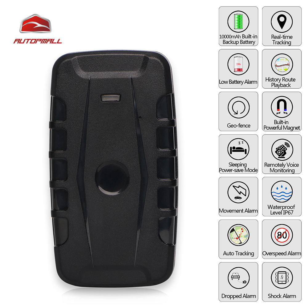 3G Car GPS Tracker LK209B Vehicle Tracking Device WCDMA Locator GSM GPRS Tracker 120 Days Standby Time Strong Magnet Waterproof vehicle gps tracker 3g wcdma waterproof gps magnet car tracking with fall alarm dropped alarm lk209b 3g 10000mah battry