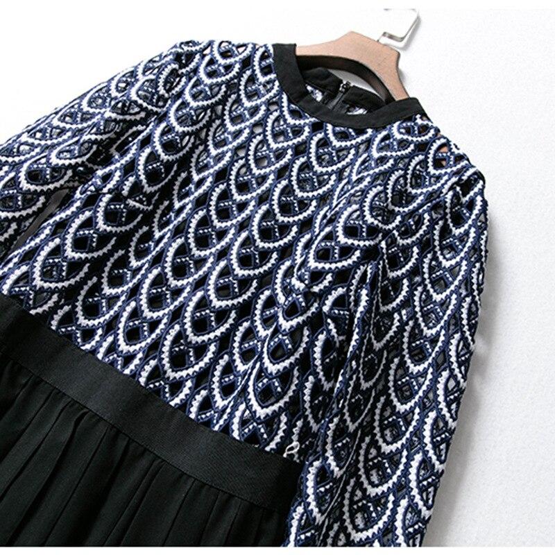 Longues Crochet Femmes Travail Fleur Robe Slim Casual Robes En Vintage Nouvelles Dentelle Maxi Out Manches Élégant Creux Parti vqSIz1dn1
