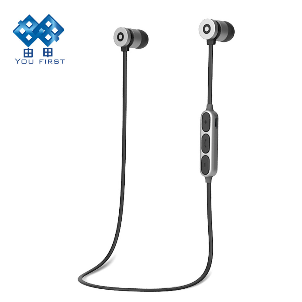 Earphone Bluetooth Wireless Stereo Sport Handsfree Bluetooth V4.2 In Ear Earbud With Microphone For Mobile Phone iPhone X bluetooth headset stereo sound wireless bluetooth earphone bass sport in ear headphones headband handsfree for iphone pc