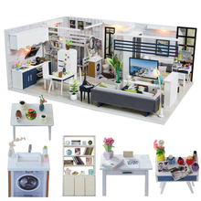 CUTEBEE DIY Dollhouse Wooden doll Houses Miniature Doll House Furniture Kit Casa Music Led Toys for Children Birthday Gift M18