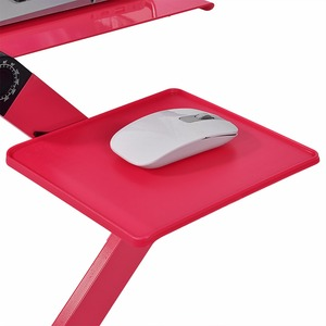 Image 4 - Portable Laptop Desk Stand for Bed Sofa Adjustable Stand Up Computer Laptop Deskes With Mouse Pad Aluminum Notebook Table Desk
