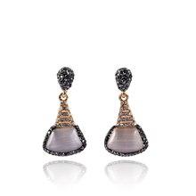 YNB Newest Fashion Pink Nature Stone Vintage Earrings for Women, Rhinestones Drop Earrings, Semi-precious Stone Fashion Jewelry