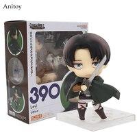 Nendoroid Aanval op Titan 390 Shingeki geen Kyojin Scouting Legioen Levi Rivaille PVC Action Figure Model Collectie Speelgoed KT036