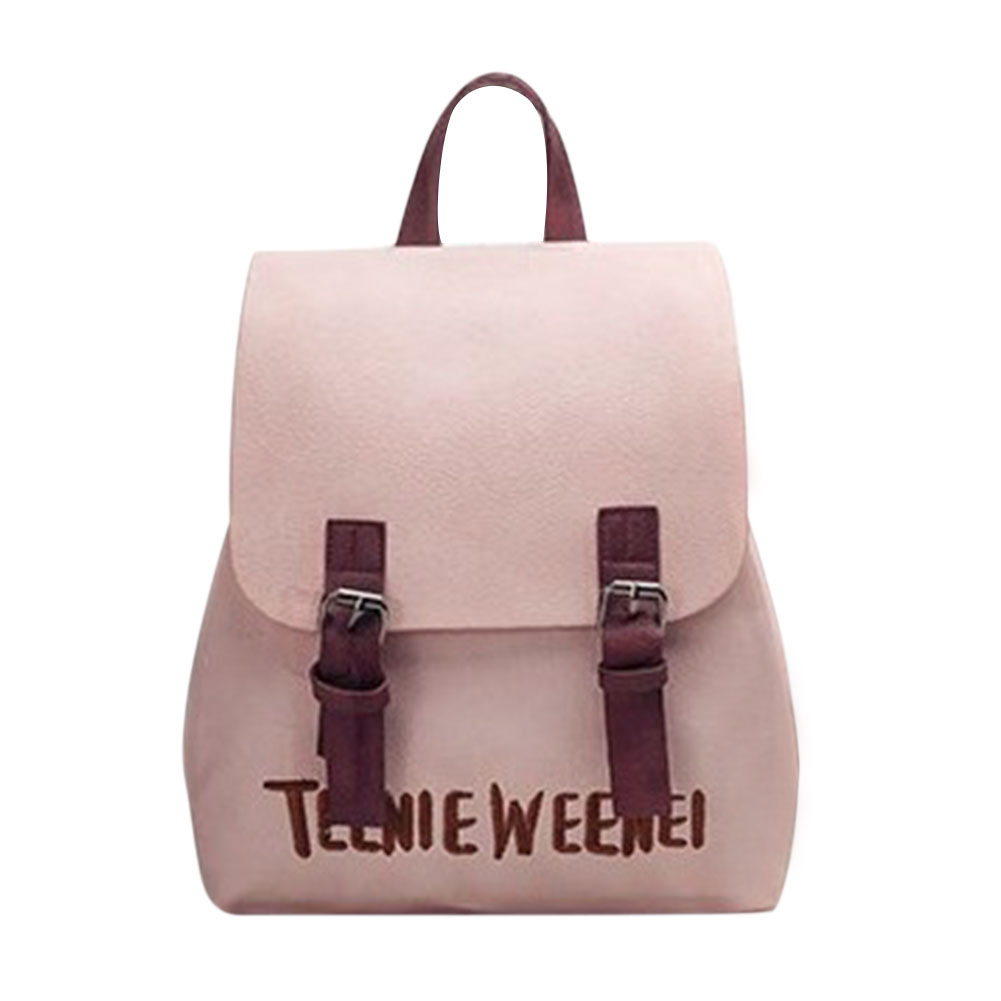 New PU Leather Backpack Letter Embroidery Backpack Women Preppy Rucksack Chic Girls School Bags for Teenage Girs Mochila Escolar new printing pu leather backpack women shoulder rucksack university bags for teenage girls designer brand korean femme