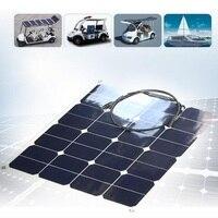 Comercio al por mayor 50 w 18 v célula solar flexible sunpower panel solar diy sistema solar power panel cargador de casa para 12 v batería 10 unids/lote