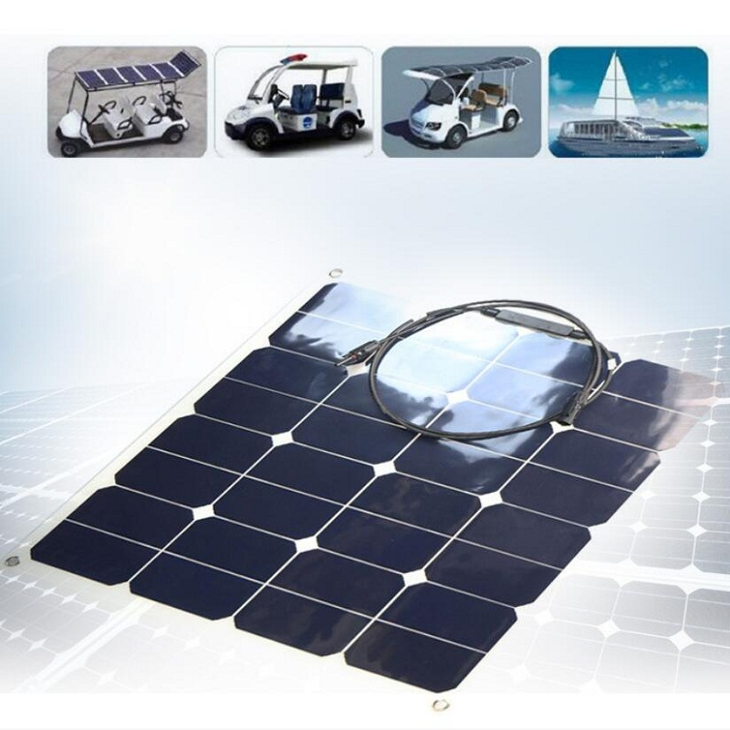 Wholesale 50W 18V flexible Solar Cell Sunpower Solar Panel DIY Solar Panel Power System Home Charger For 12V Battery 10pcs/lot mxsolar 145w high efficiendy bendable flexible solar panel a grade sunpower cell
