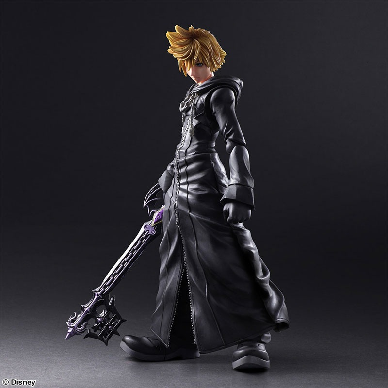 Play Arts KAI Kingdom Hearts Roxas  PVC Action Figure Collectible Model Toy kingdom hearts play arts kai roxas sora pvc action figure toy 26cm movie game anime kingdom hearts ii playarts kai