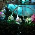 Bola Led de cuerda Luz de Navidad Jardín Colgante Garland Decoración de La Boda Luces de Hadas de Vacaciones Partes