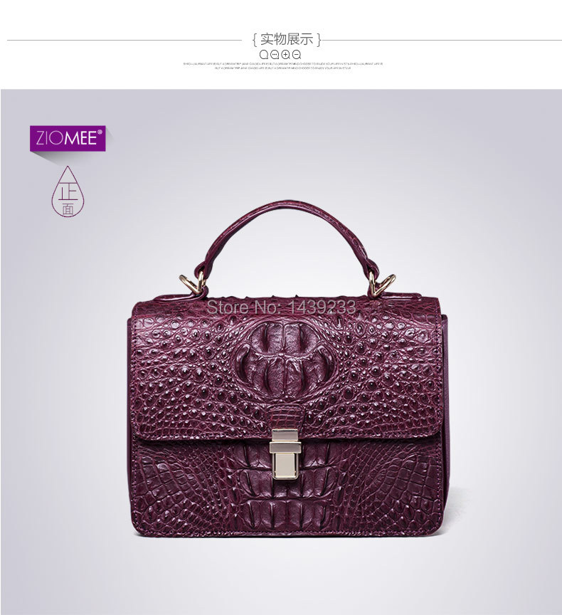 100 genuine crocodile skin leather women handbag Cross Body Shoulder Bag Crocodile Skin Small Size Women
