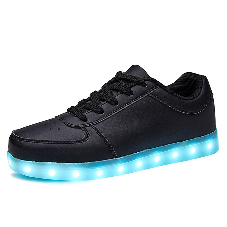 KRIATIV Black Shoes USB Charging Kids