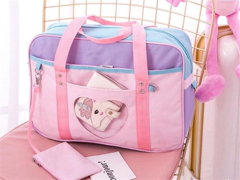 2 Maneras Sailor Moon Lolita Bowknot Bolso Mochila Packbag  Estilo Preppy Mensaje Hombro Estudiantes Cosplay Mujeres Chica #4