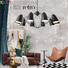 KAIT Postmodern Wrought Iron chandeliers light E27 ceiling modern chandelier Lamp Black White Metal