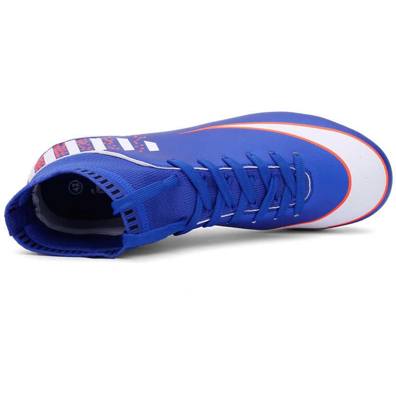 Высокие носки Длинные шипы Для мужчин футбол обувь Кроссовки и бутсы мужской Обувь для футбола резиновая подошва мужские спортивные кроссовки обувь Zapatillas