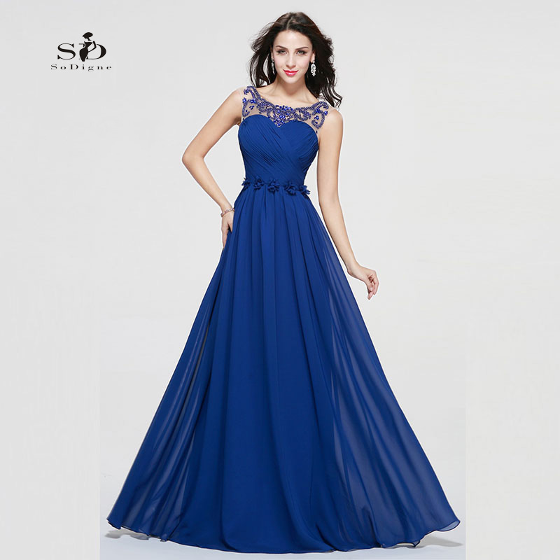 Compare Prices on Royal Blue Long Dresses- Online Shopping/Buy Low ...