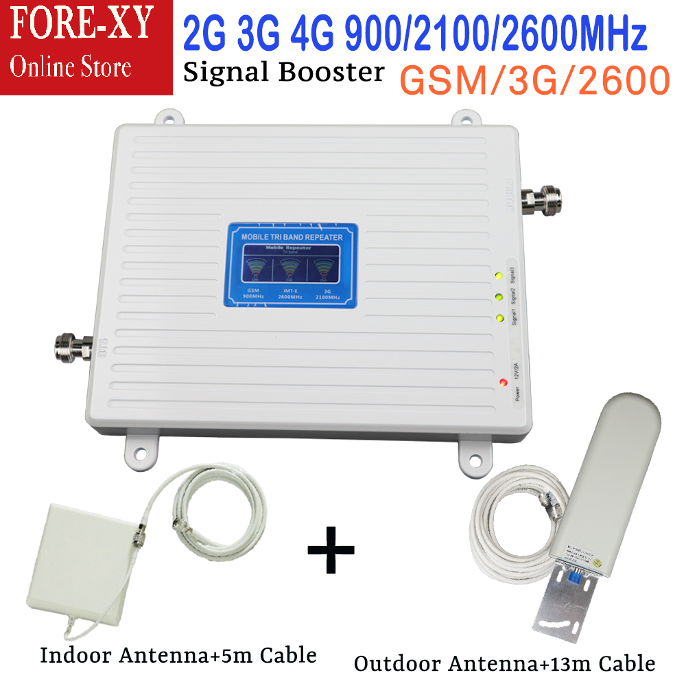 2G 3G 4G Cellular font b Signal b font Repeater GSM 900 WCDMA 2100 LTE 2600