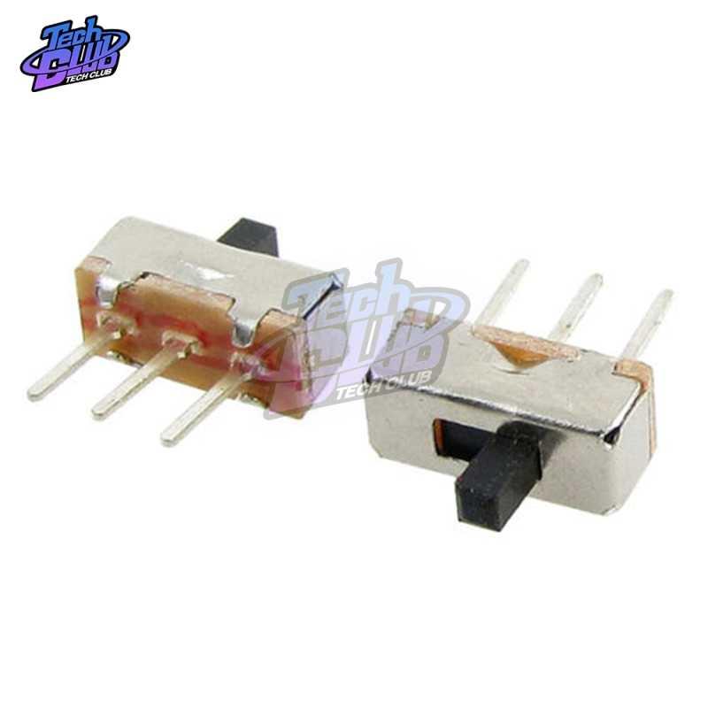 20 piezas SS12D00 SS12D00G3 interruptor de palanca 2 posiciones SPDT 1P2T 3 pines PCB Panel Mini interruptor de deslizamiento Vertical