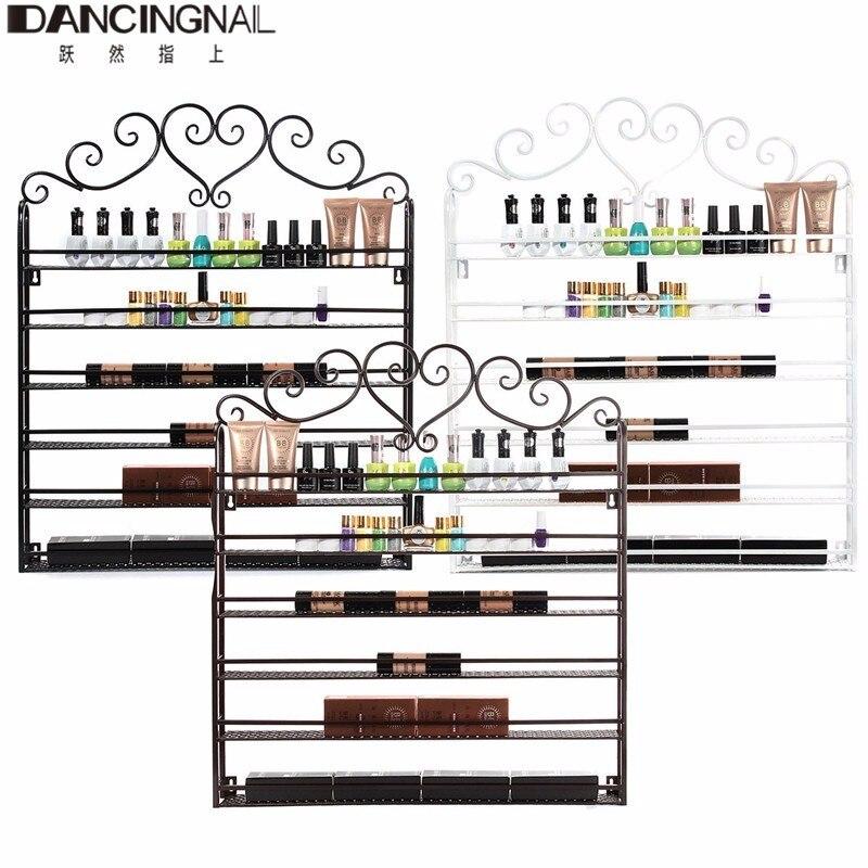 Métal vernis à ongles bouteilles mur Rack monté organisateur affichage étagère de rangement maquillage organisateur 3 couleur 6 niveaux