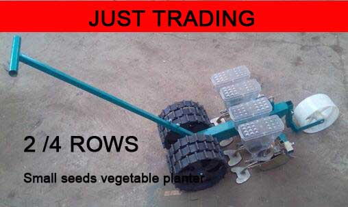 4 Rows 2 Rows Handle Hand Push Vegetable Seeder Vegetable Planter