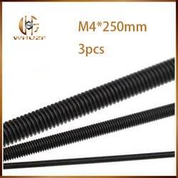 Черный шарнир наконечника тяги с M4 * 250 мм для 3d принтера части или винты