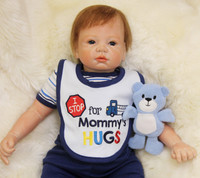 22 Handmade Soft Reborn Baby Doll Newborn Lifelike Silicone Toy Gift For Kid Child Birthday Teaching