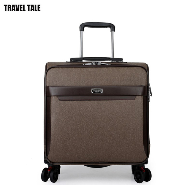 Travel Tale 16 20 24 Inch Leather Carry On Luggage Spinner Cabin Suitcase