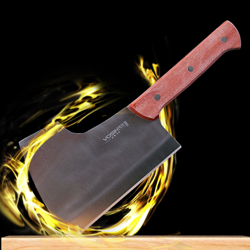 Free Shipping VISON Professional Forged Chef Chop Bone Knife Kitchen Cutting Bones Knife Handmade Choppers Cooking Knife Cleaver