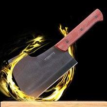 Freies Verschiffen VISON Professionelle Geschmiedet Chef Hacken Knochenmesser Küche Schneiden Knochen Messer Handgemachte Chopper Kochen Messer Hackmesser