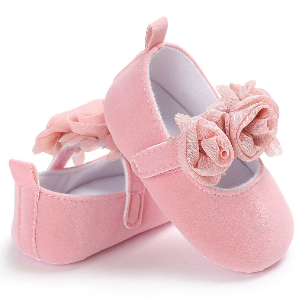 Emmababy New Brand Fasion Newborn Baby Boy Girl Soft Sole White Pram Shoes Trainers Size 0-18M