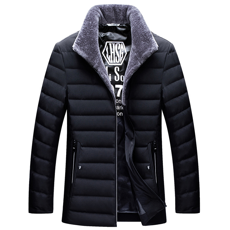 New style 2019 autumn winter   down     coat   men stand collar white duck   down   jacket male outerwear plus size M - 4XL