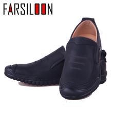 Для мужчин повседневные Лоферы Водонепроницаемый обувь Slip-on натуральной удобные кожи модная обувь большой Размеры Роскошная фирменная обувь NP010