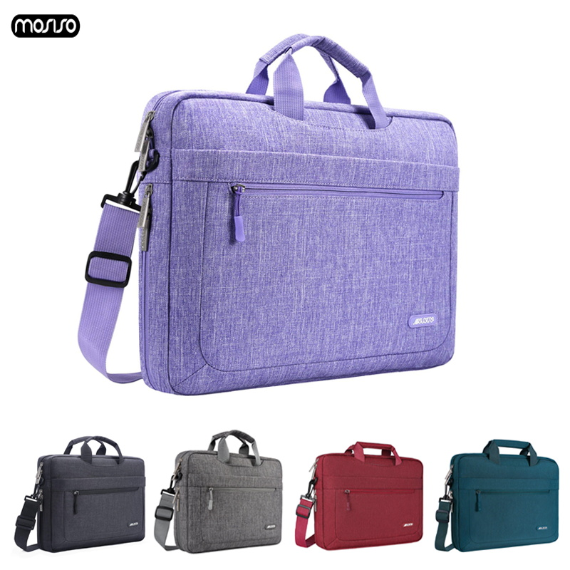 Mosiso 11 12 13 13.3 15 15.6 17 macbook pro xiaomi huawei 등을위한 17.3 인치 노트북 슬리브 방수 노트북 숄더 케이스 백