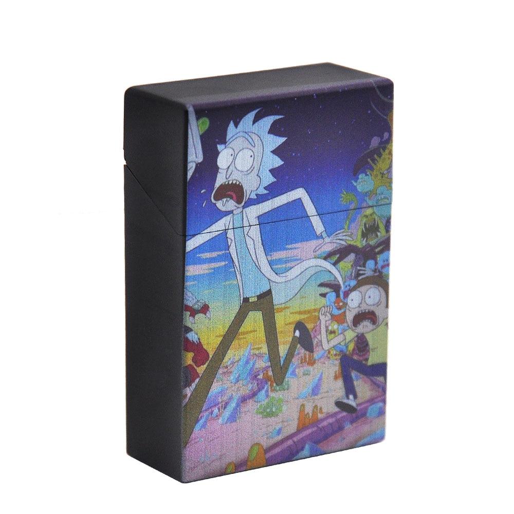 Чехол для сигарет Рик и Морти, пластиковый чехол для сигарет, чехол для обычных сигарет, портативный держатель для сигарет - Цвет: Type4