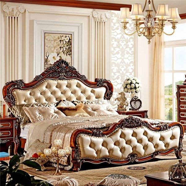 Möbel Schlafzimmer Möbel Angemessen Europäischen Stil Luxus Klassischen Design Massivholz Doppelbett
