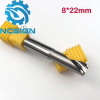 1pc 8 22mm AAA Grade One Single Flute Solid Carbide Spiral Milling Cutter CNC Router End