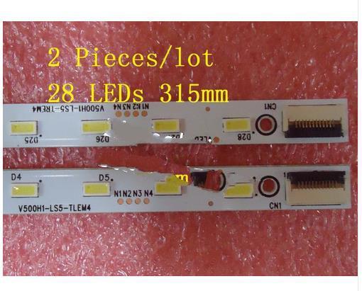 2 Pieces/lot Le50d8800 V500hj1-le1 Led Strip V500h1-ls5-tlem6 Tlem4 Trem6 Trem4 E117098 28 Leds 315mm,used Parts