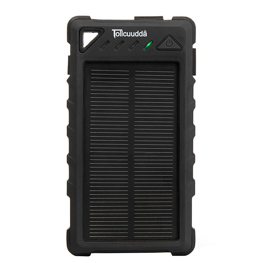 Tollcuudda solar power bank 8000 mah puertos dobles del usb móvil externo cargad