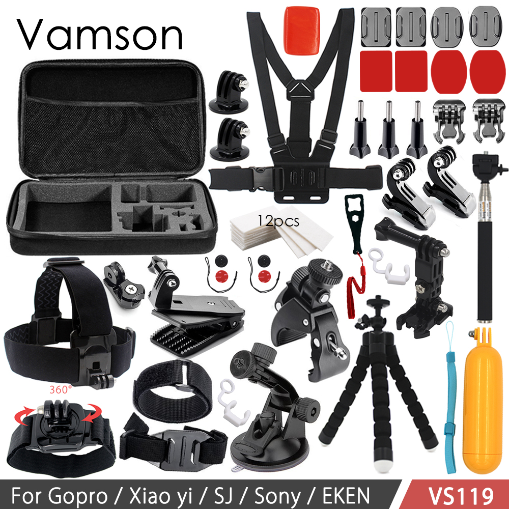 где купить Vamson Accessories for Go Pro Set 3 Way Mount Base Collection Box Adapter for Gopro Hero 6 5 4 3+ for Xiaomi Yi for SJ4000 VS119 по лучшей цене