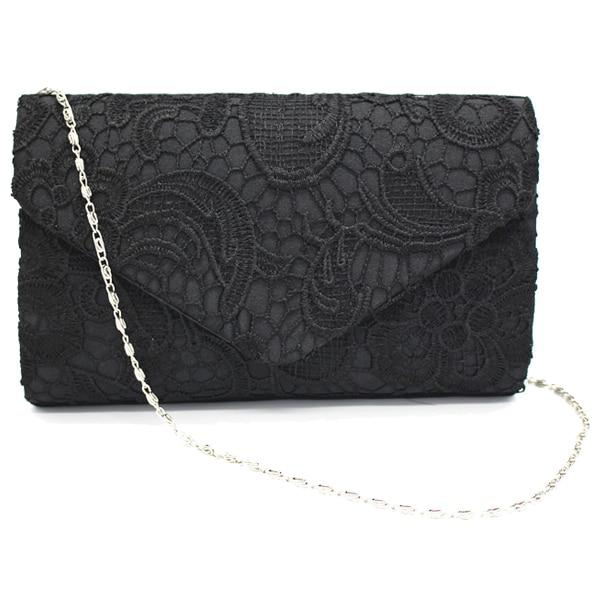 Fashion Boutique New Classy Lace Clutch Envelope Bag Bridal Designer Ladies Evening Party Prom