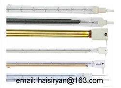 120v 500mm 1000w średniej fali pojedyncza rura elektryczna halogenowa IR szkło kwarcowe lampa grzewcza na podczerwień