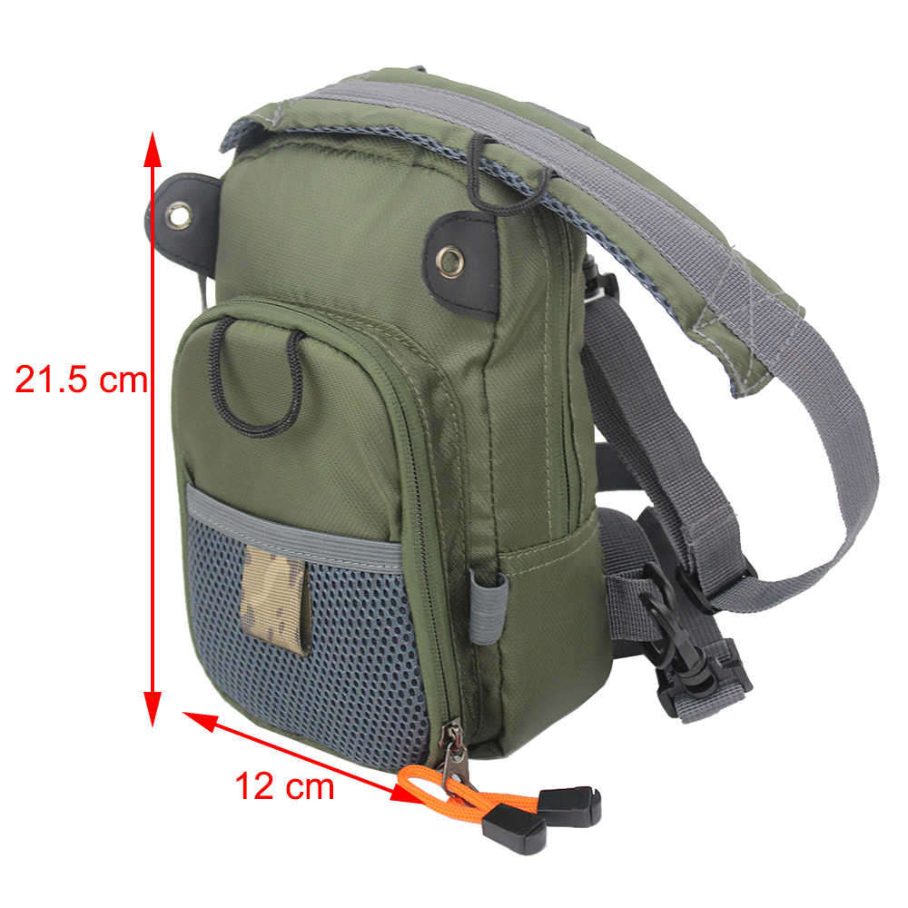 Армейский зеленый 2 слоя Fly рыболовный сундук сумка Открытый слинг пакет рыболовный слинг рюкзак Рыболовные Снасти Сумка