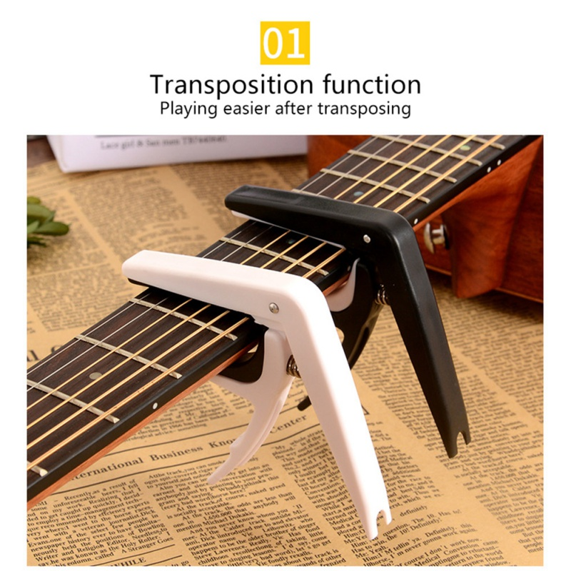 2019 New Professional Aluminum Alloy Tune Guitar Tuner Clamp Key Trigger Capo For Acoustic Electric Musical Guitar Capo