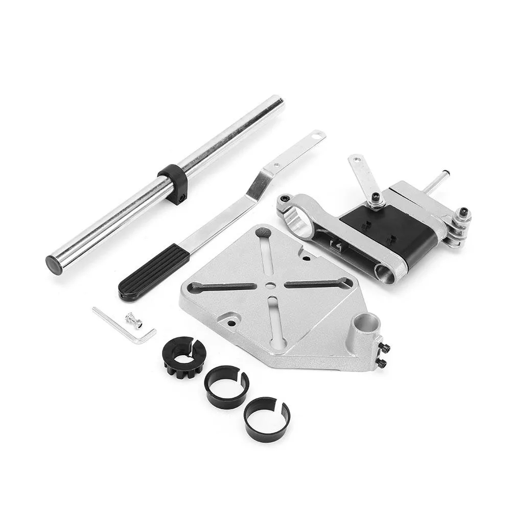 Image 3 - ALLSOME Electric Drill Bracket 400mm Drilling Holder Grinder Rack Stand Clamp Bench Press Stand Clamp Grinder for Woodworking-in Electric Drills from Tools on