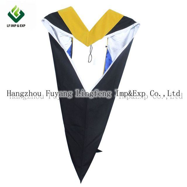 University Academic Graduation Hood Bachelors Masters Gowns Dresses ...