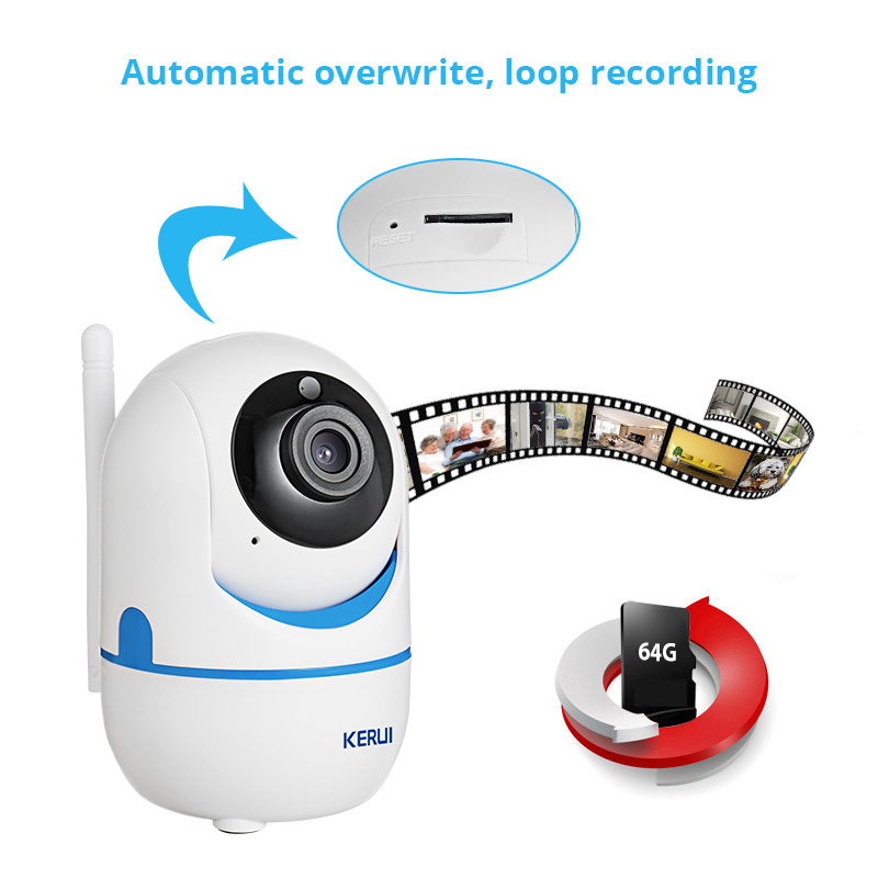 KERUI IP Camera Monitoring Baby Growth Home Security System Network WiFi HD 1080P Indoor Remote Infrared Camera Intelligent Mail